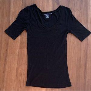 Ralph Lauren Sport Black V-Neck - S